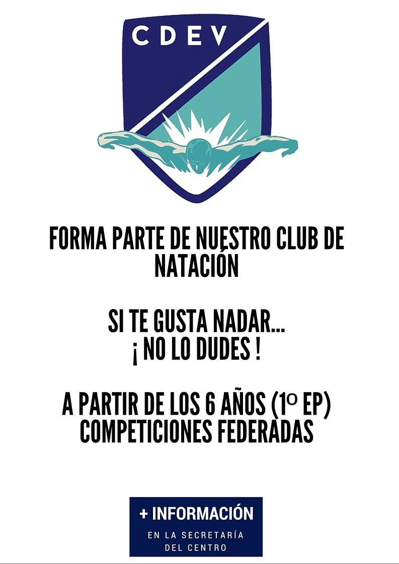 CARTEL CLUB NATACIÓN